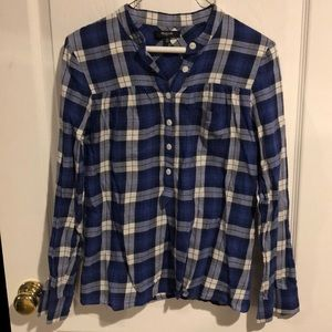Madewell plaid long sleeve